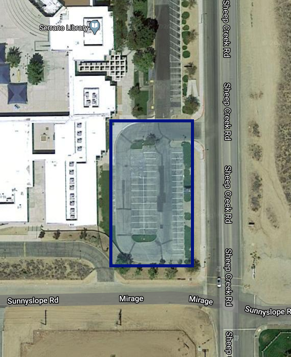 Map of Learning Lot for Serrano High School