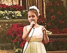 Iolanta Mamatkazina performing at church