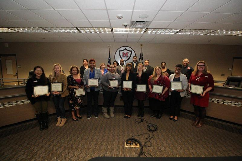MISD Counselors Recognized at Board of Trustees Meeting Thumbnail Image