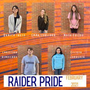 Raider Pride Feb. 2021