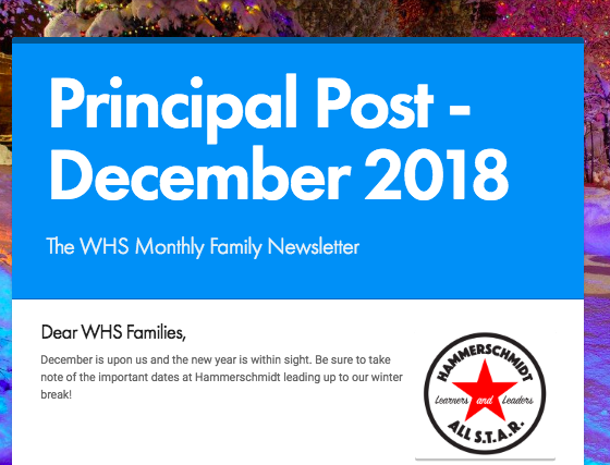 December 2018 Principal Post Newsletter Thumbnail Image
