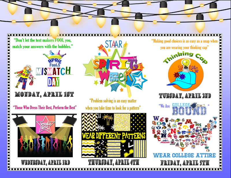 STAAR Spirit Week April 1st-5th Featured Photo