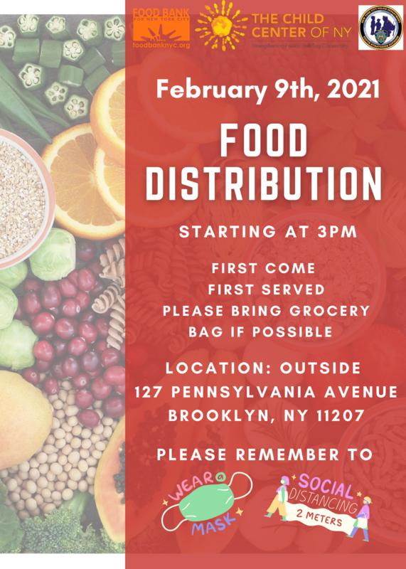 Child Center New York Food Distribution February 9 2021