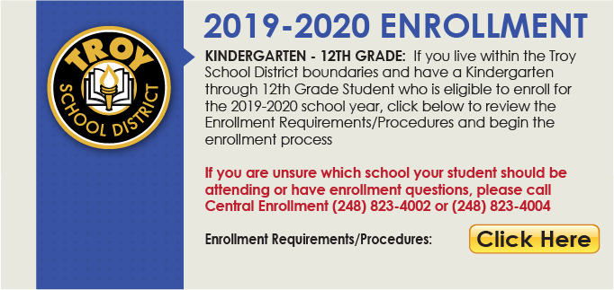 Kindergarten only enrollment 2019-2020