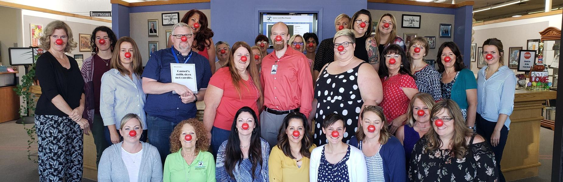 CCOE Staff on Red Nose Day