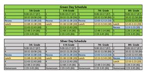 Green/Silver Block Schedule (updated 9.28.20)