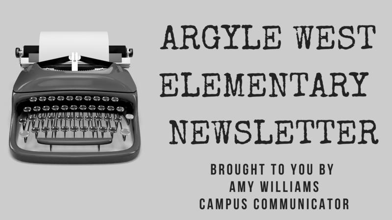 argyle west newsletter