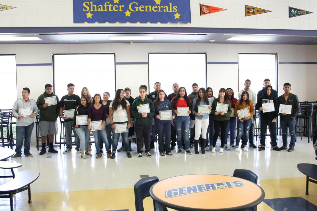 CVHS students who earned all their 1st semester credits!!!!!