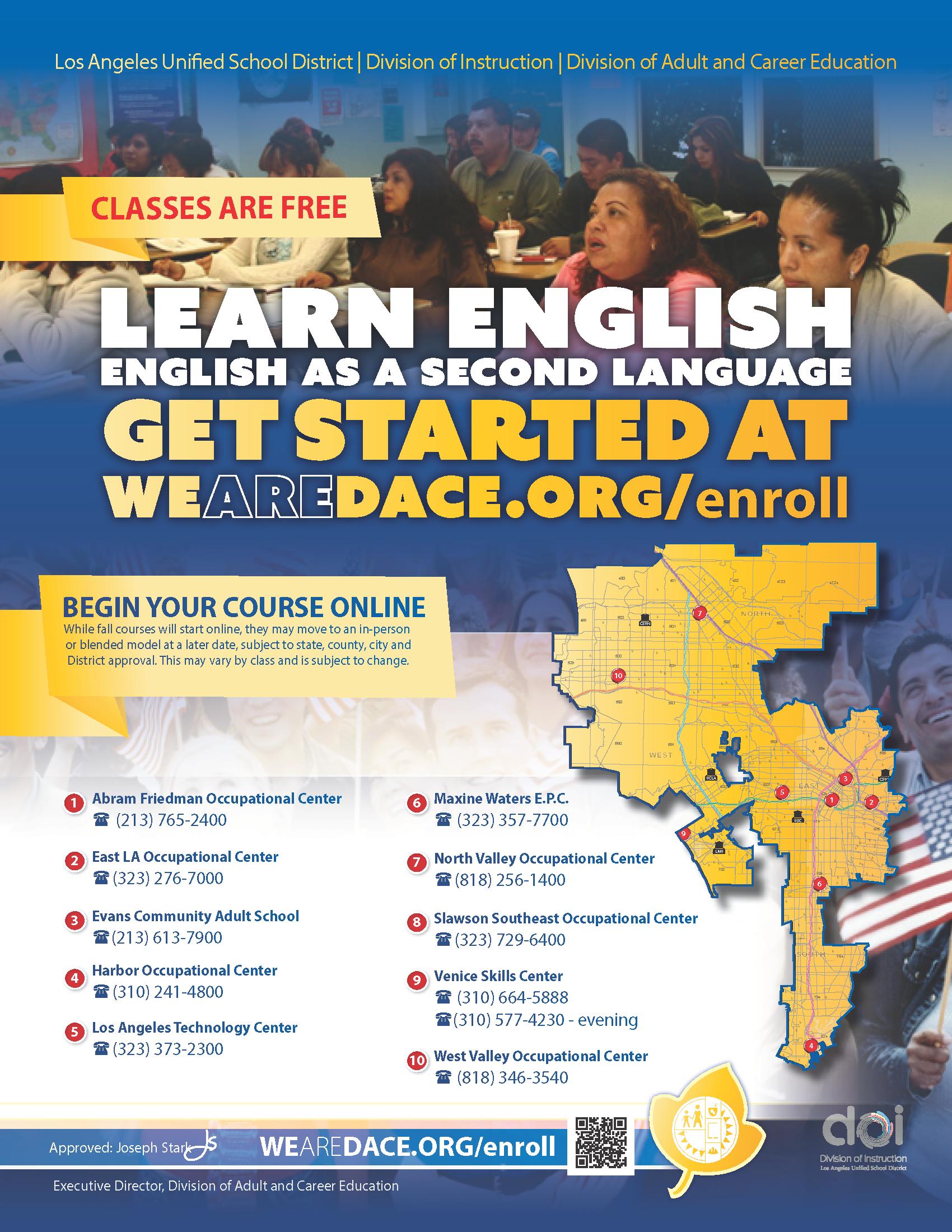 Learn English Flyer - Fall 2020