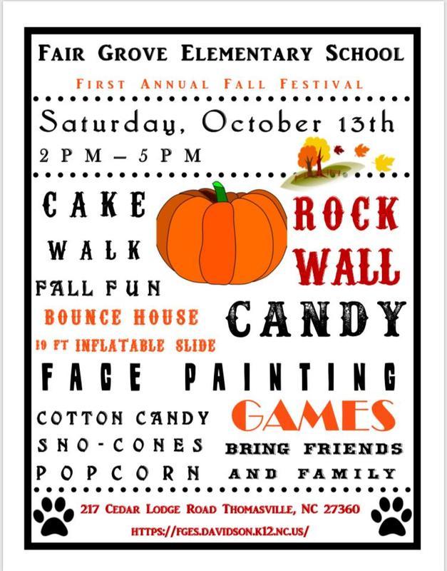 flyer for fall festival