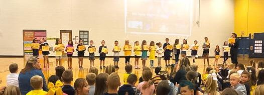 September Schoolwide Positive Behavior Assembly Award Recipients