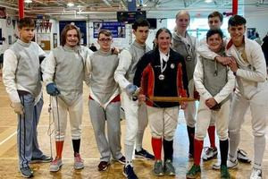 Fencing Team at High School Tournament
