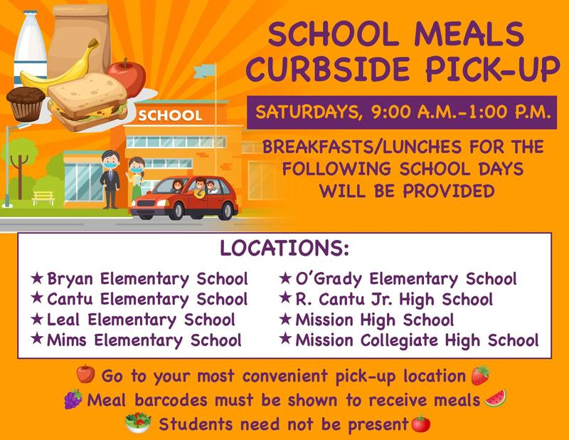 School Meals Curbside Pick-Up Featured Photo