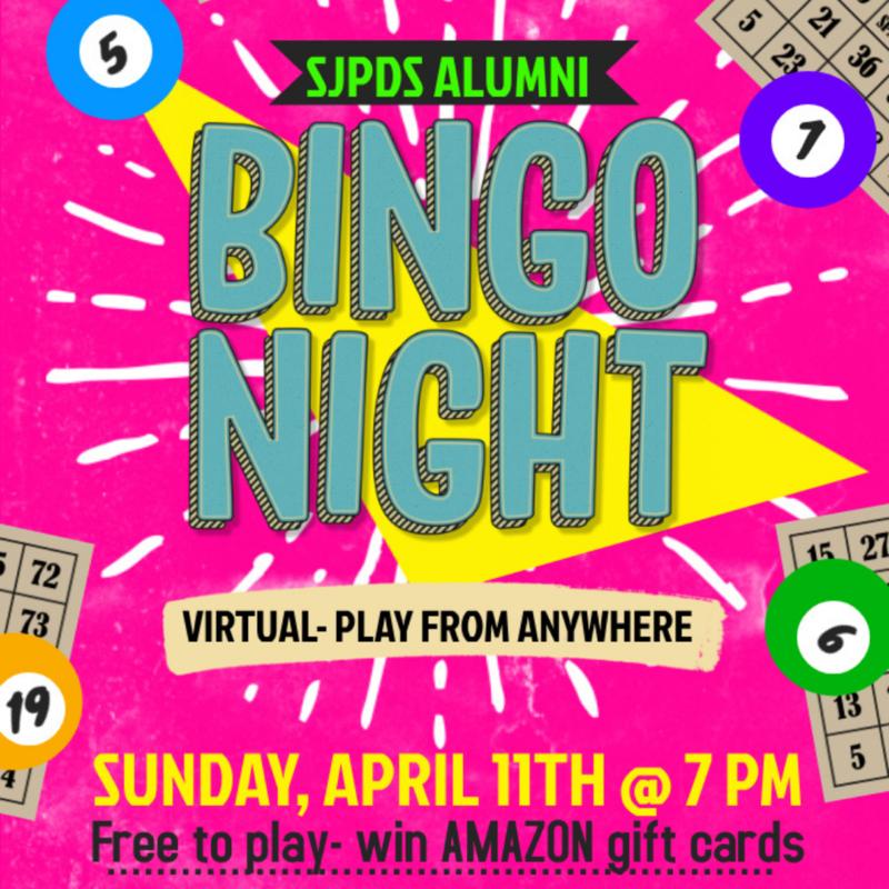 Alumni Bingo on April 11th, 2021 Thumbnail Image
