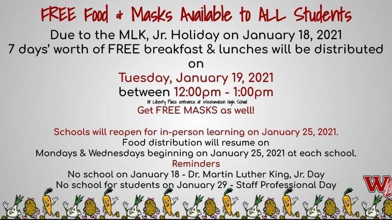 Food distribution - 1/19 at WHS
