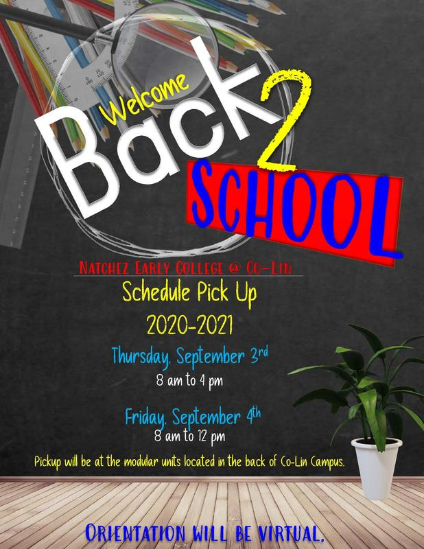 Natchez Early College Schedule Pick-Up