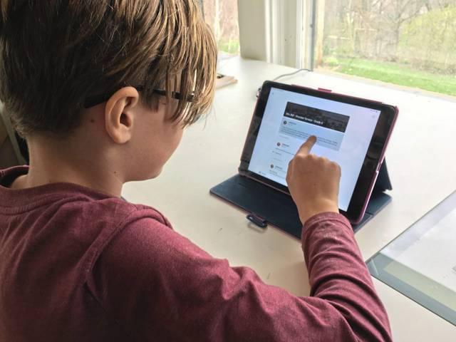 Online learning - TribLive website article