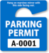 sign for a parking permit
