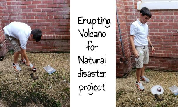 Erupting Volcano for natural disaster project
