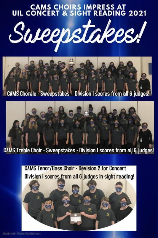 Congrats to the CAMS Choir! Featured Photo