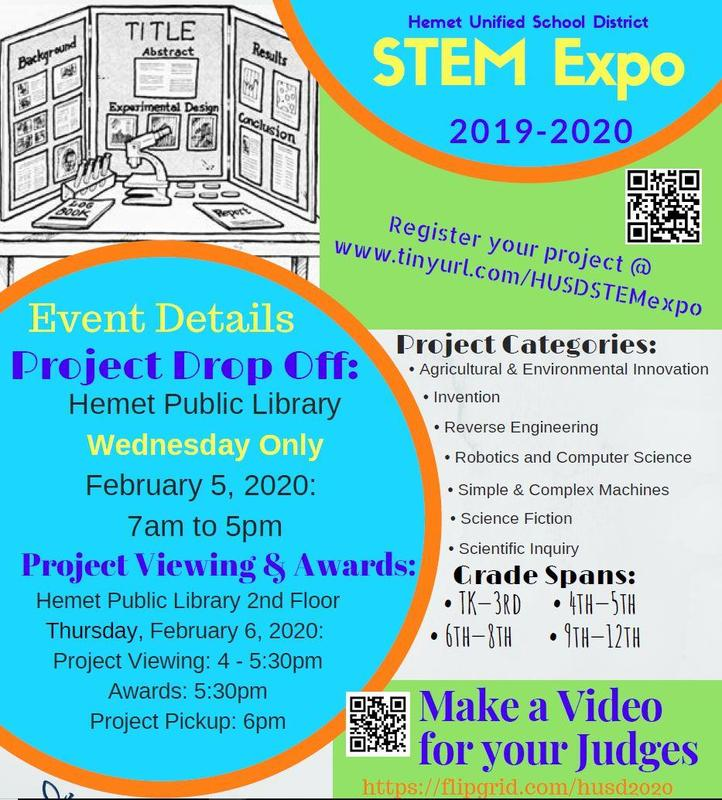 HUSD STEM Expo flyer