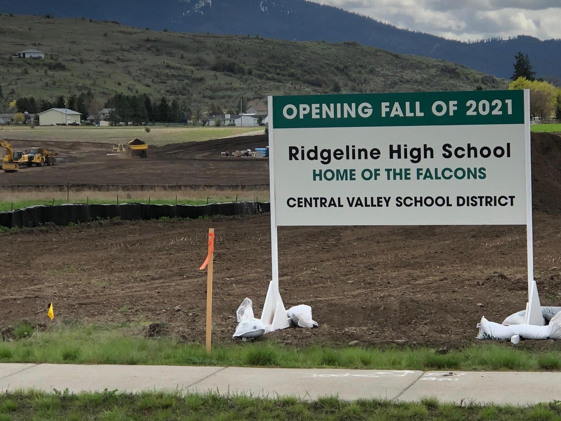 Ridgeline High School sign