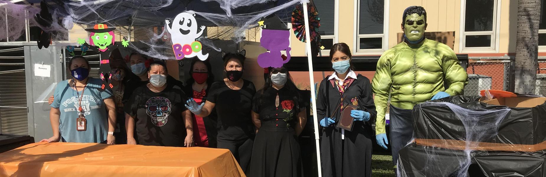 Ramona Staff during Halloween