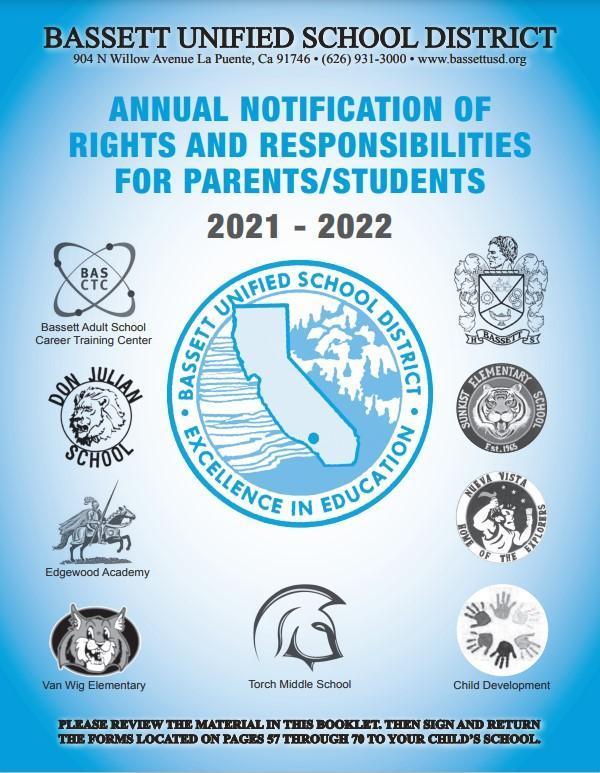 BUSD student/parent handbook