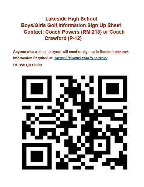 golf information posted on golf website