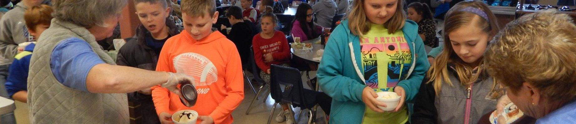 Optimist Club treats IS students to ice cream