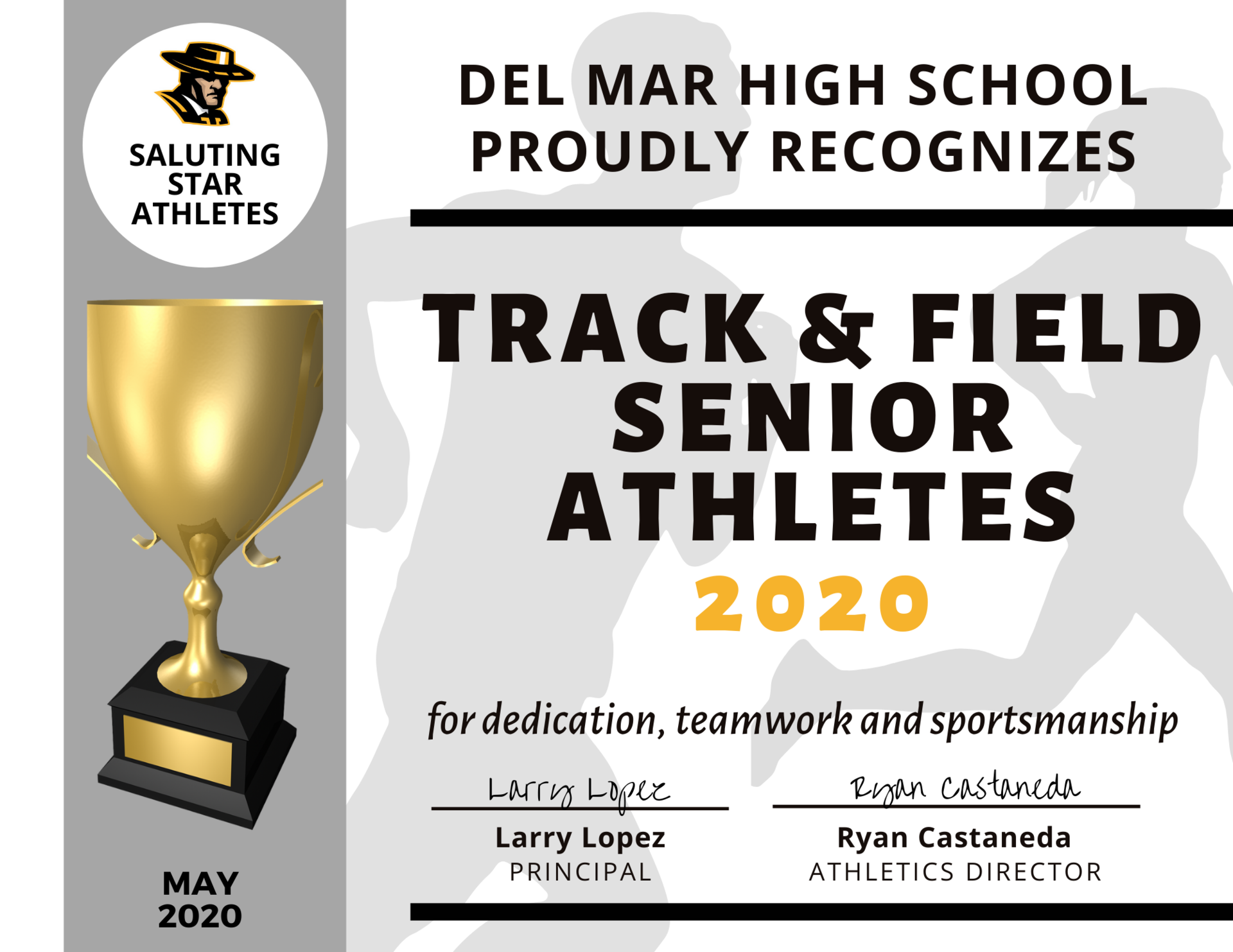 image of track team recognition