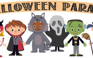 graphic of Halloween parade