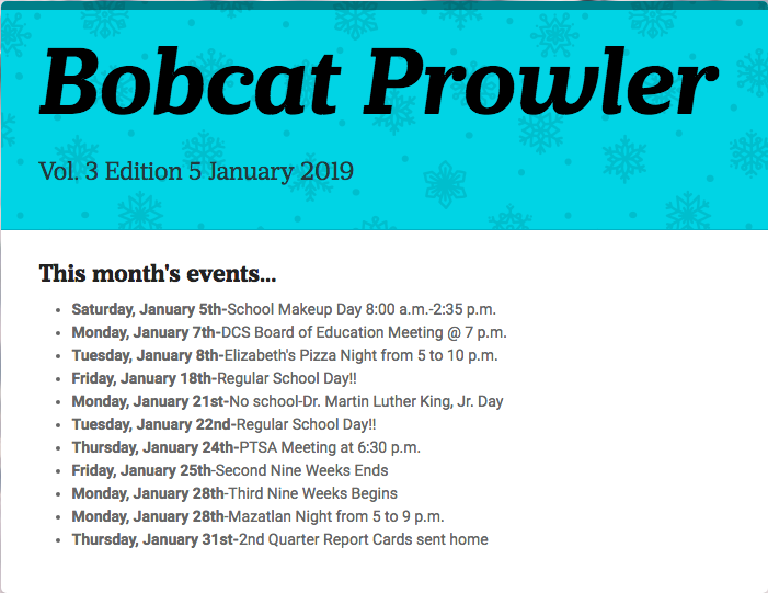 January Bobcat Prowler
