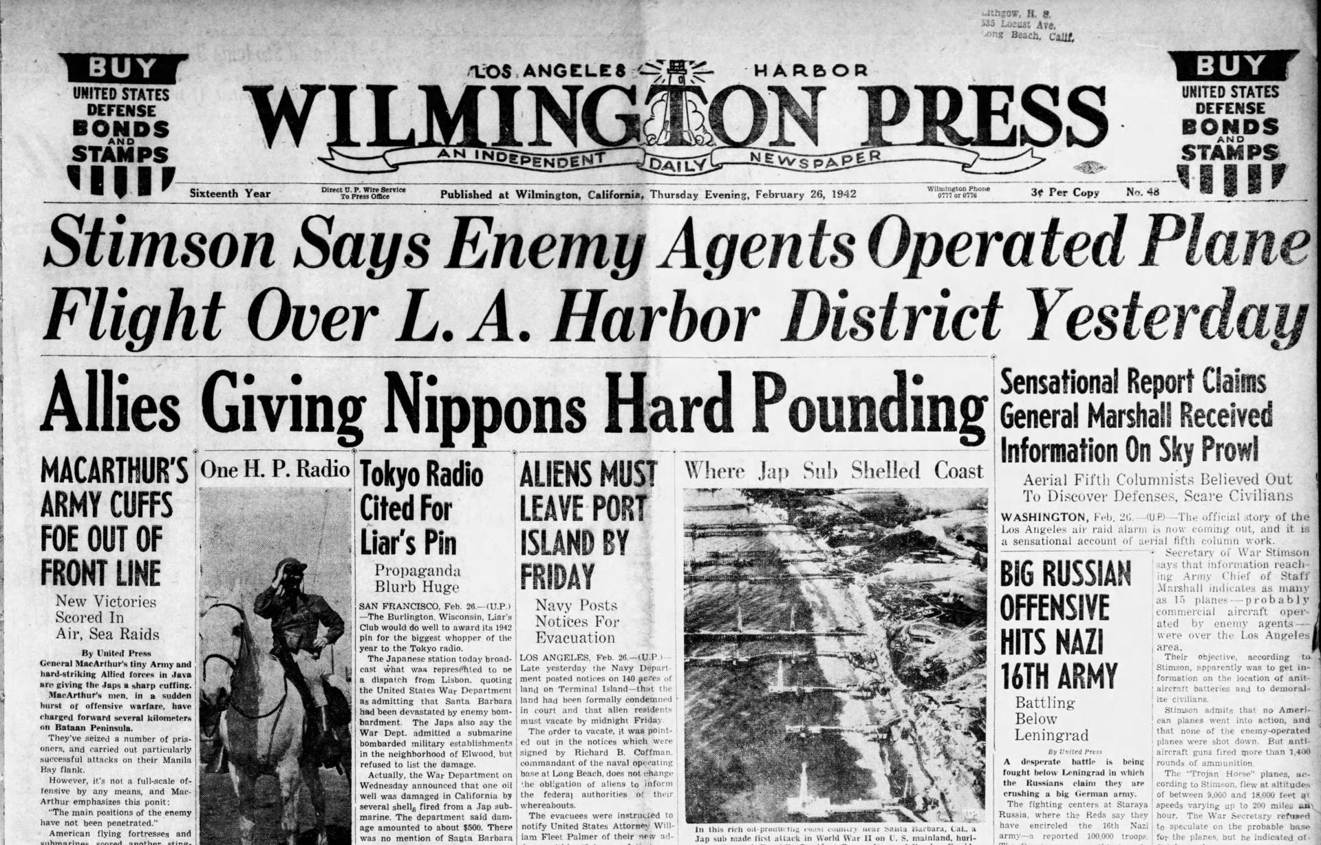 News Clipping of the L.A Air Battle
