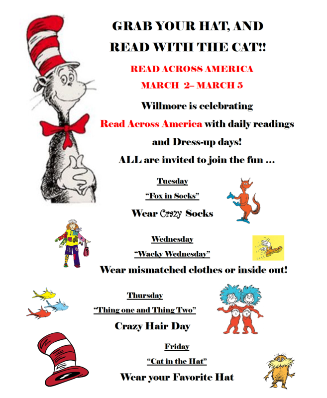 Read Across America Schedule - ENGLISH