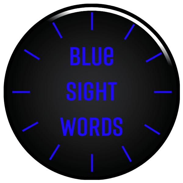 Blue Sight Words