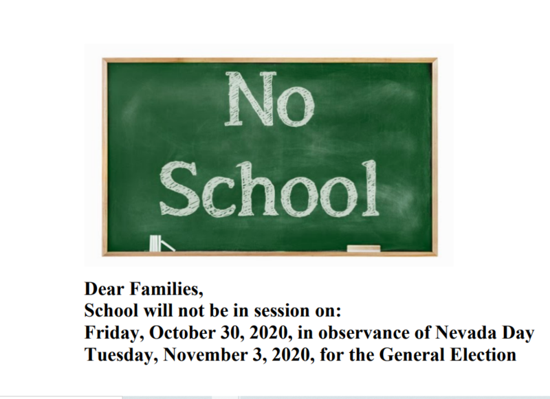 School Will Not Be In Session Friday, October 30, and Tuesday, November 3 Featured Photo