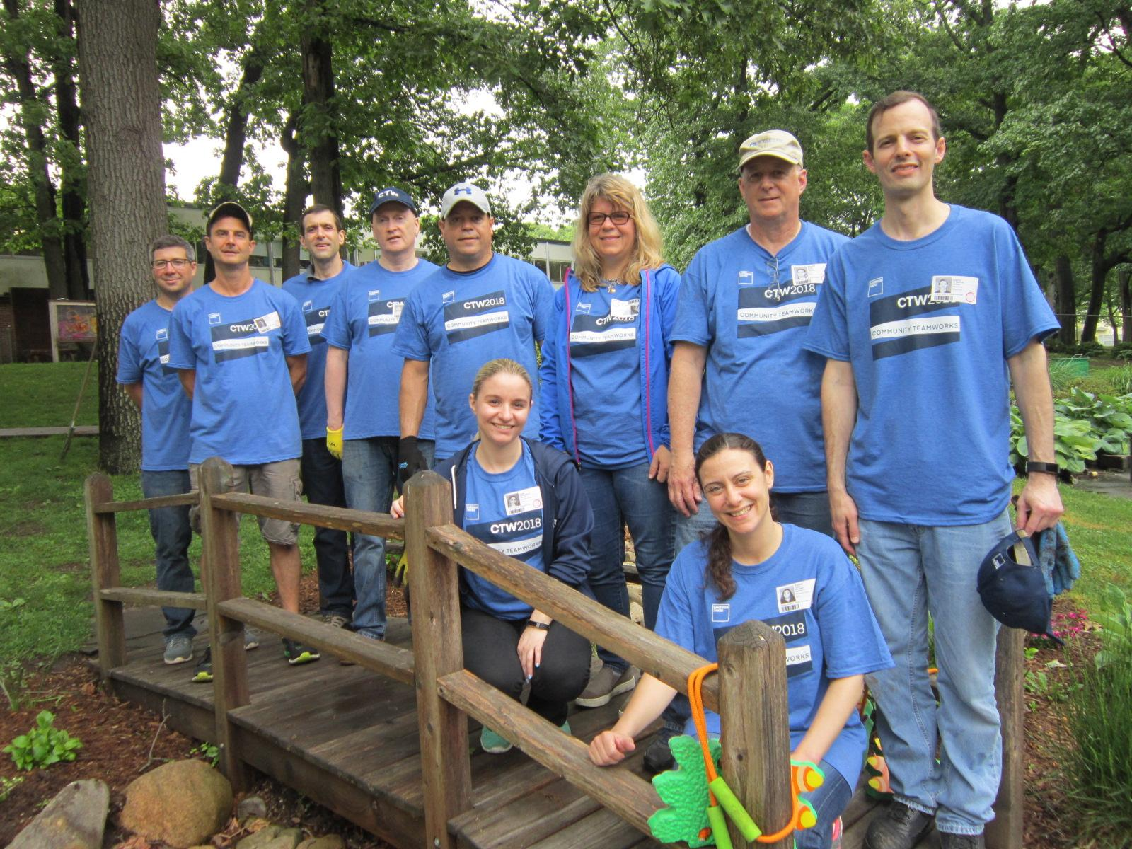 Volunteers from Goldman Sachs