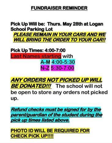 Fundraiser pick-up reminder