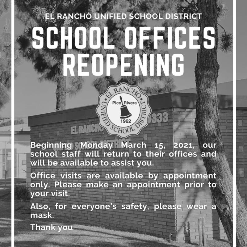 School Office Reopening