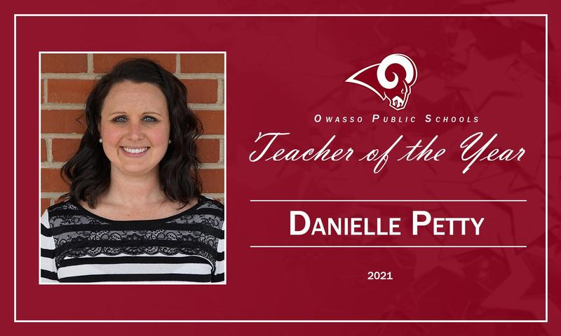 Danielle Petty 2021 Teacher of the Year