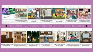 2 Random Acts of Kindness Story Boards with purple background