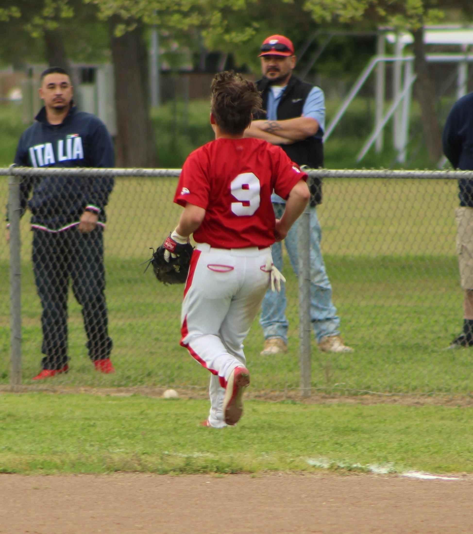JV Baseball in action against Kerman