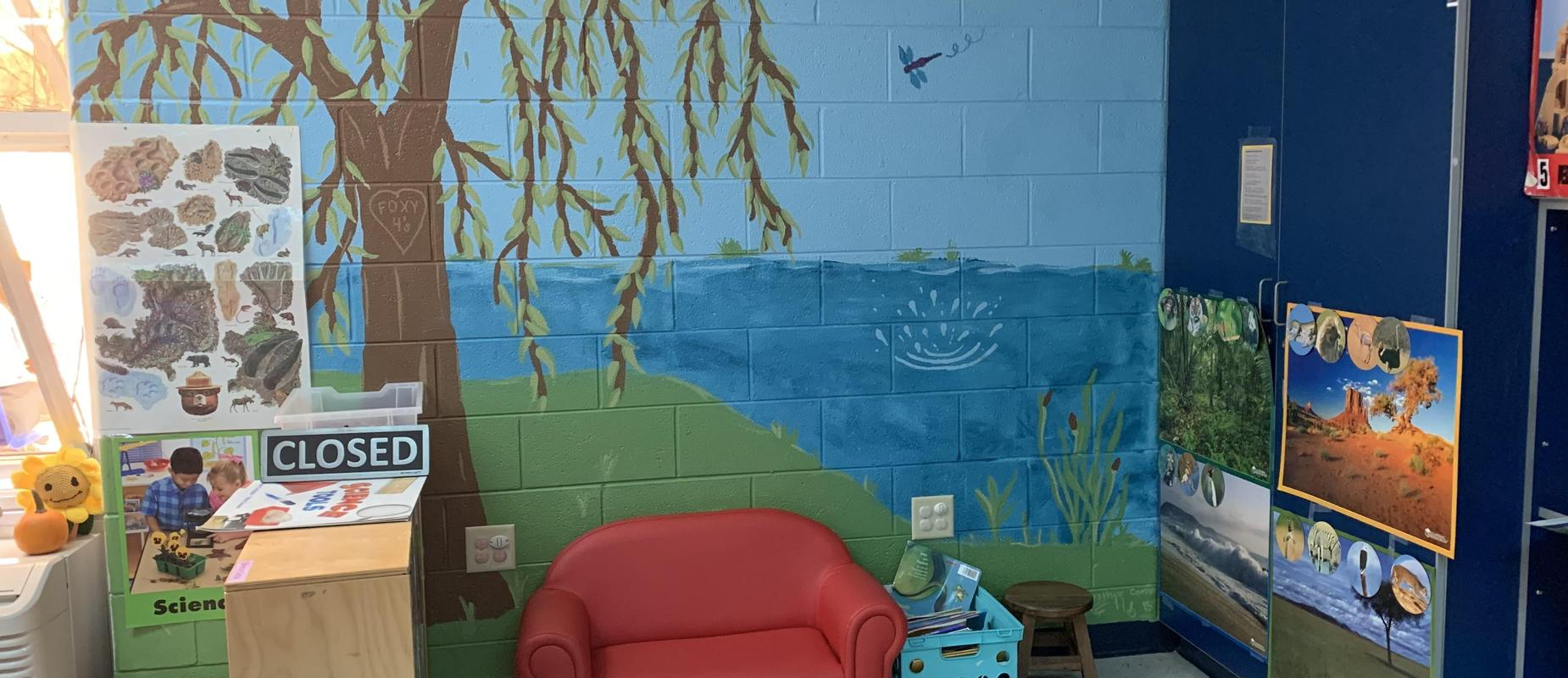 Foxy Fours Reading Area