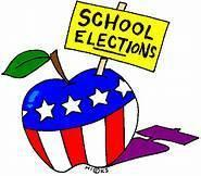 a patriotic apple with an election sign