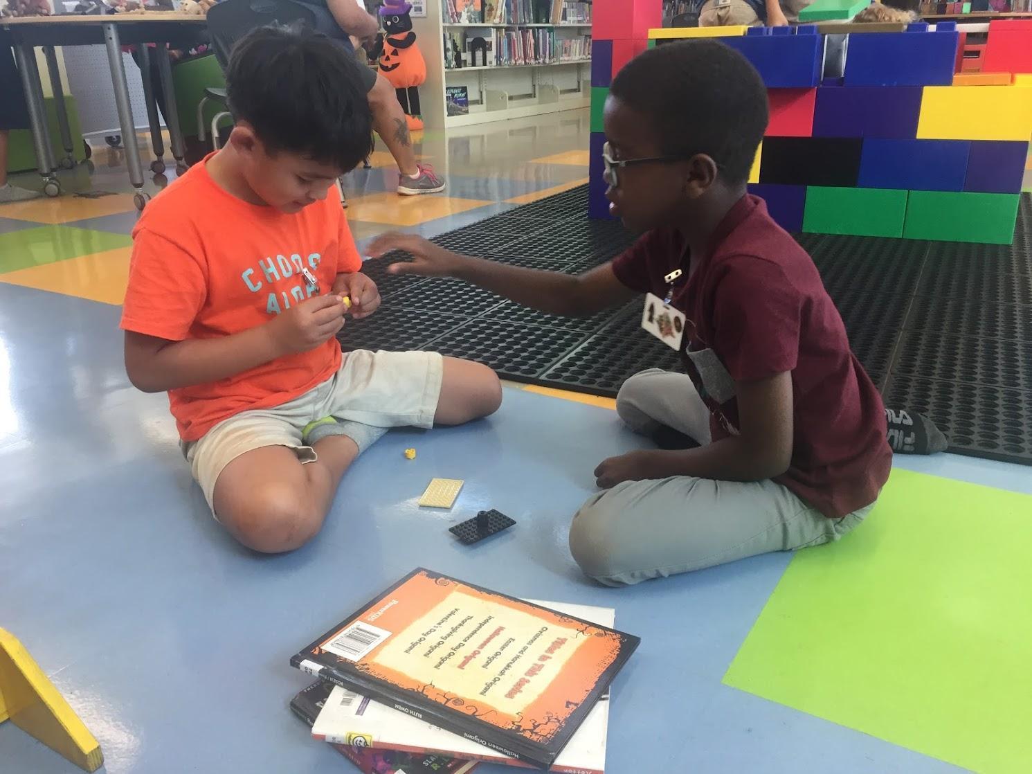 students designing together