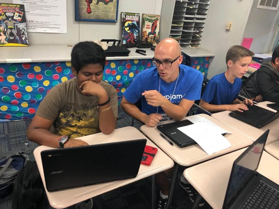 AppJam+ at Kraemer Middle School