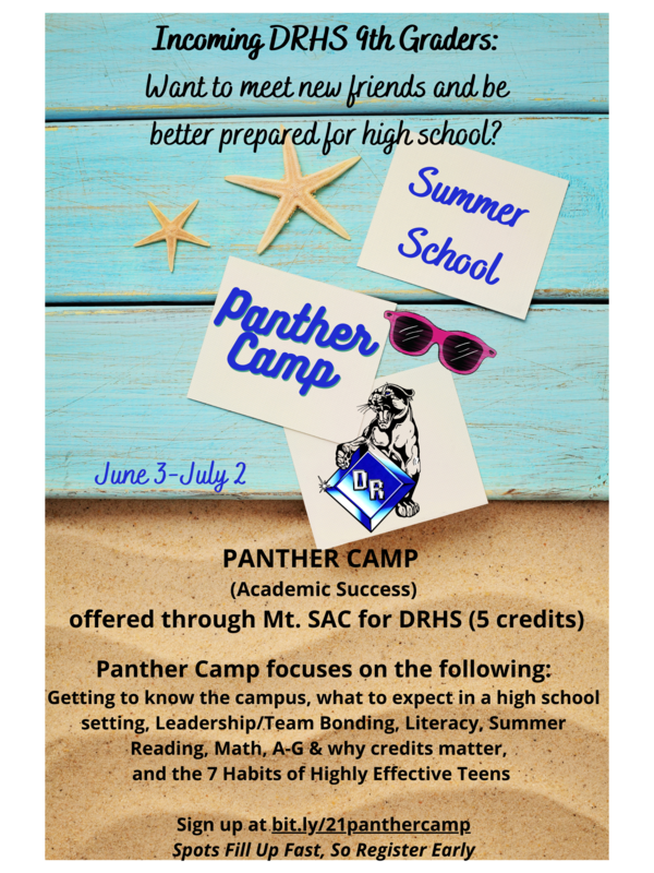 Panther Camp for Incoming 9th Graders Featured Photo
