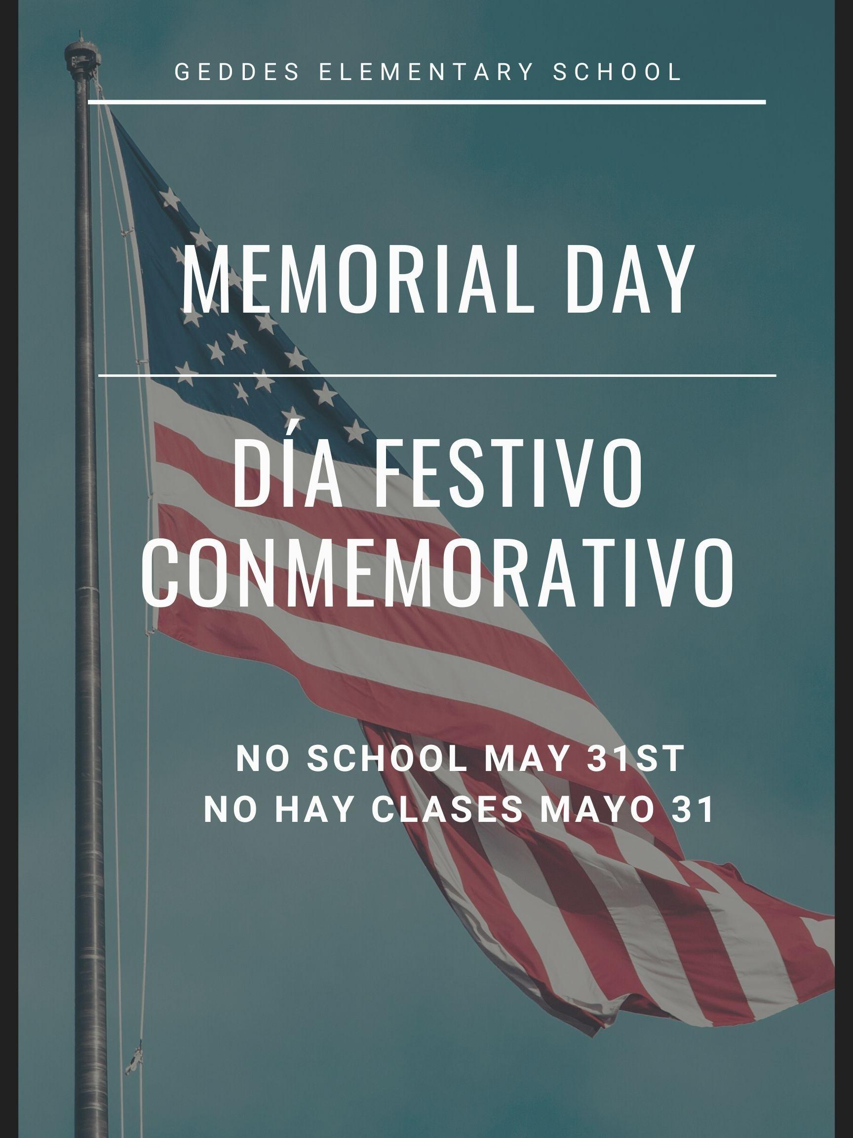 Memorial Day- Holiday