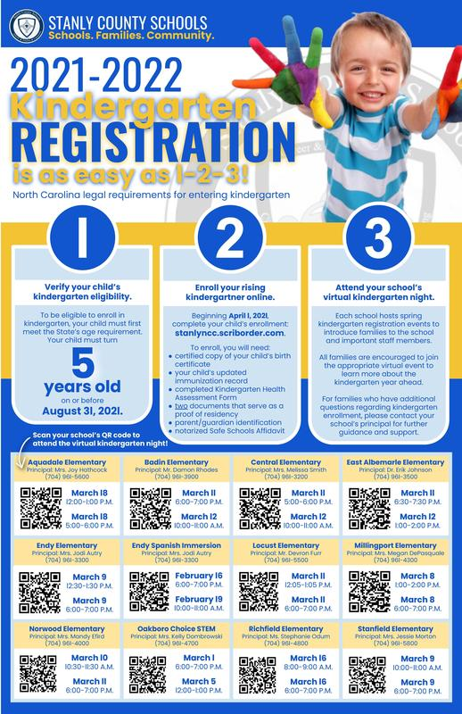 Kindergarten Registration for the 2021-2022 School Year Featured Photo